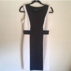 Cynthia Rowley black and white business dress
